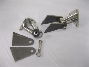 Small Big Block Chevy Weld In Street Rod Engine Motor Mounts Kit Stainless