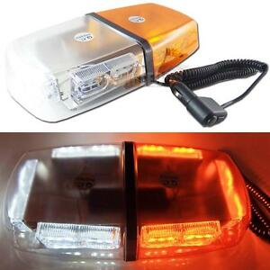 High Power White Amber 32 Led Flash Strobe Warning Roof Lamp Waterproof Light