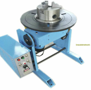 220v 50kg Duty Welding Positioner Turntable Timing With 200mm Chuck