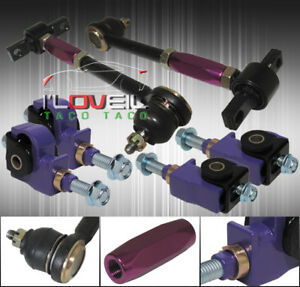 90 97 Accord Front Rear Camber Kit Purple Adjustable Suspension Jdm Links Arms