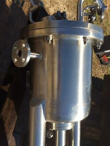 5 Gallon Lab Tank 316 Ss Split Lid Pressure Vessel Cone Bottom