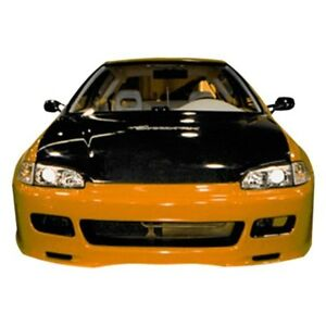 For Honda Civic 92 95 Spoon Style Fiberglass Front Bumper Cover Unpainted