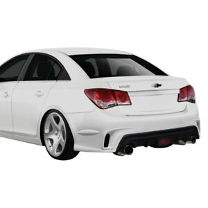For Chevy Cruze 11 15 Gt Racing Style Fiberglass Rear Bumper Cover Unpainted