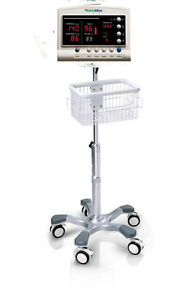 Rolling Stand For Welch Allyn 52000 Patient Monitor New big Wheel