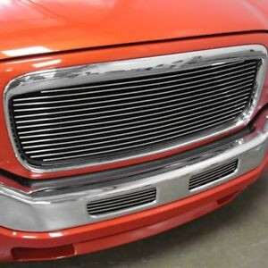 For Cadillac Escalade 99 00 1 pc Bg Series Polished Billet Main Grille
