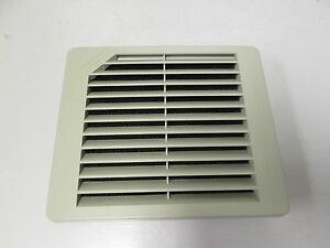 Hoffman Tep4ul12 Exhaust Grille For Electrical Enclosures 5 1 2 X 5 1 2 Gray