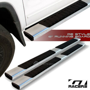 For 2007 2018 Silverado sierra Crew Cab 6 Oe Aluminum Side Step Running Boards