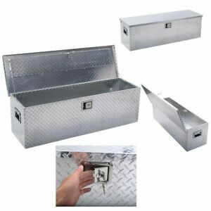 49 x15 aluminum Tool Box Tote Storage For Truck Pickup Bed Trailer Tongue W lock