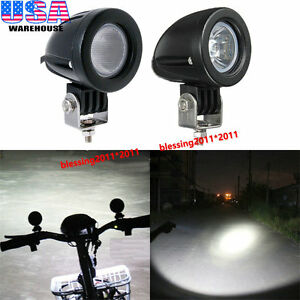 2x 2 10w Cree Led Work Light Spot Flood Driving Offroad Fog Lamp Motorcycle Atv