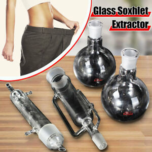 500ml Glass Soxhlet Extractor Condenser W Two Flat Bottom Flask 24 29 Lab Kit