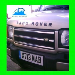 99 00 01 02 Land Rover Discovery 2 Ii Chrome Trim For Grill Grille 5yr Warranty
