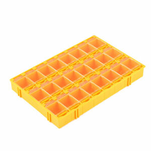 Plastic 24 Compartments Electronic Components Storage Box Case