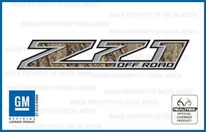 Set Of 2 2014 2018 Gmc Sierra Z71 Off Road Decals Realtree Ap Camo Stickers