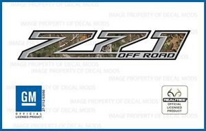 Set Of 2 2014 2018 Gmc Sierra Z71 Off Road Decals Realtree Xtra Green Camo