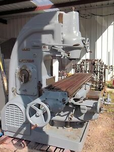 Kearney Trecker Milwaukee Model H 4 4h Vertical Milling Machine K