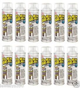 New Case 12 Flex Seal Fscl20 Clear Large 14oz Jumbo Can Liquid Rubber Sealant