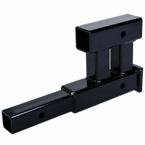 Dual 17 X9 Hitch Extension 2 Receiver Extender 5 8 Pin Hole 4000 Lbs Capacity