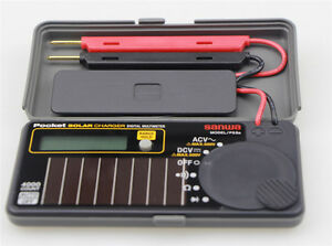 Sanwa Ps8a Solar Battery Pocket Size Multimeter Dmm 0 7 New