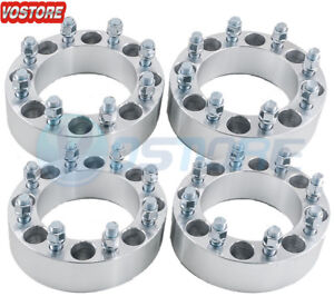 4 2 8 Lug Wheel Spacers Adapters 8x6 5 For Chevy C K 2500 3500 Gmc Sierra