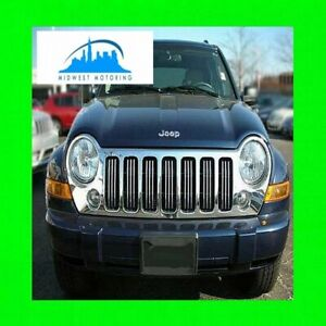 02 11 Jeep Liberty Chrome Trim For Grill Grille 03 04 05 06 07 08 09 10 2010