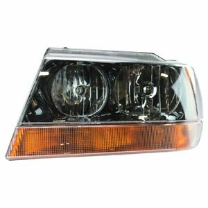 Headlight Headlamp Driver Side Left Lh For 99 02 Jeep Grand Cherokee Laredo