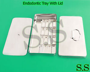 Endodontic Tray With Lid 8 x4 x1 Dental Holloware Instruments