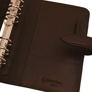 Compact 1 Rings New Brown Unstructured Leather Franklin Covey Planner binder