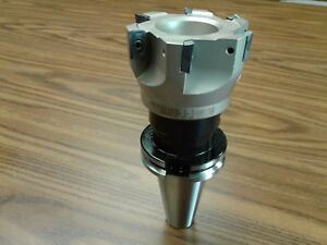 3 90 Degree Indexable Face Shell Mill face Milling Cutter Apkt W Cat40 Arbor
