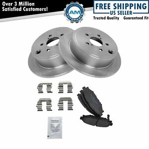 Nakamoto Rear Premium Posi Ceramic Brake Pad Rotor Kit Left Right For Subaru
