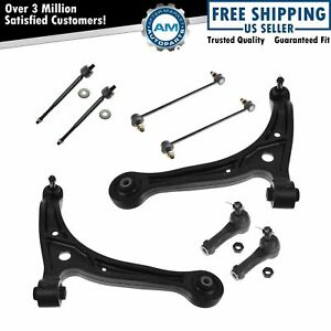 Complete Front Suspension 8 Piece Tie Rods Control Arms Sway Links For Odyssey