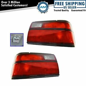 Taillights Lamps Red Signal Light Pair Set For 88 92 Toyota Corolla Sedan