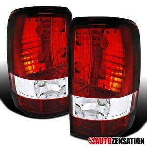 For 2000 2006 Chevy Suburban Tahoe Gmc Yukon Denali Xl Red Tail Lights Lamps