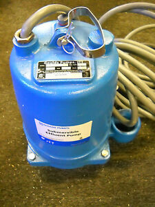 Goulds Pumps We0538h Submersible Effluent Pump 1 2 Hp 200v New Condition No Box