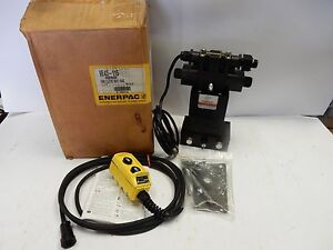 Enerpac Ve43 115 4 way Electric Hydraulic Valve With Pendant Directional Control