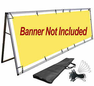 A frame Vinyl Banner Stand 3x10 Ft Sign Holder Billboard Outdoor Display Stand