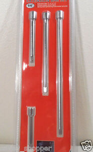 Extension Bars 4 Pc 1 4 Inch Drive Extension Bar Set 3 4 6 9 Inch Lengths
