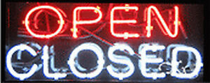 New open closed 24x10x3 Real Neon Sign W custom Options 12118
