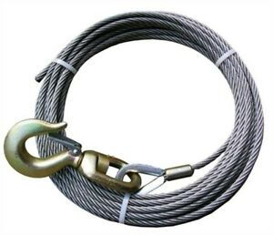 Ba Products 4 38ps100s Winch Cable 3 8 X 100 Fiber Core Swivel Hook Tow Truck