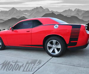 2015 2016 2017 Dodge Challenger Reverse C Stripe Rear Quarter Side Stripes Decal