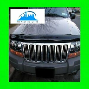 99 04 Jeep Grand Cherokee Chrome Trim For Grill Grille 00 01 02 03 5yr Warranty