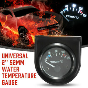 2 52mm 40 120 Universal Electric Car Led Pointer Water Temperature Temp Gauge