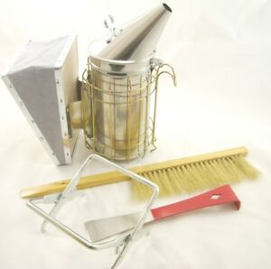 Beekeeping Stainless Steel Smoker Tool Set And Brush Package