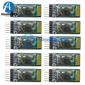 10pcs Wireless Serial 6 Pin Bluetooth Rf Transceiver Module Hc 05 Rs232