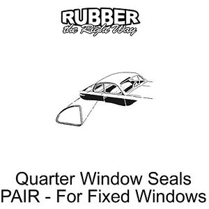 1949 1950 1951 Ford Business Coupe Quarter Window Seals Pair