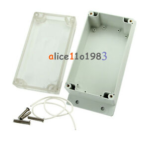 158x90x65mm Clear Waterproof Plastic Electronic Project Box Enclosure Cover Case