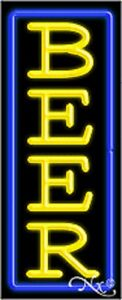 New beer Vertical 32x13 W border Real Neon Bar Sign W custom Options 10968