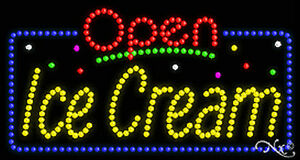 New open Ice Cream 32x17 Solid animated Led Sign W custom Options 25433