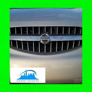 Chrome Trim Fits Grill Grille For Nissan Altima 1998 2001 W 5yr Warranty