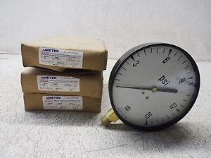 Ametek P500 Us Gauge 1 4 Anpt Lm 15 Psi 4 1 2 lot Of 3 New