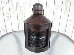 12 Dark Antique Finish Starboard Lantern Ship Oil Lamp Nautical Boat Light